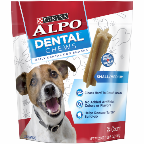 ALPO Small/Medium Dog Dental Chews Snacks Perspective: front