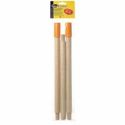 Bestt Liebco® Quick Solutions™ Wood Roller Extension Pole - 3 Piece Perspective: front