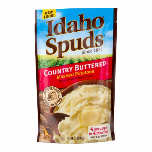 Idaho Spuds Country Buttered Mashed Potatoes Perspective: front
