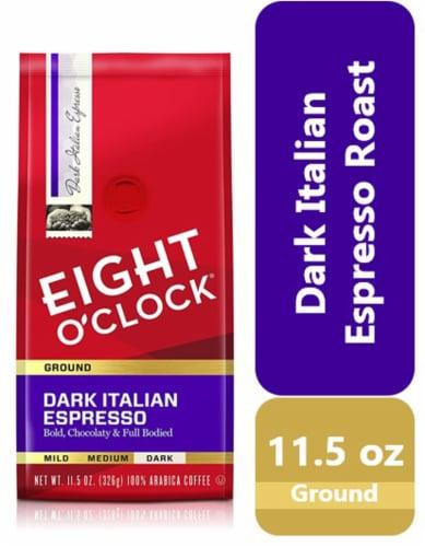 Eight O'Clock Dark Italian Roast Ground Espresso Coffee Perspective: front