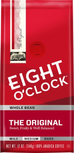 Eight O'Clock Original Medium Roast Whole Bean Coffee Perspective: front