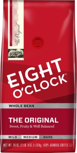 Eight O'Clock Original Whole Bean Coffee Perspective: front