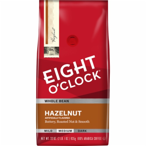 Eight O'Clock Hazelnut Medium Whole Bean Coffee Perspective: front