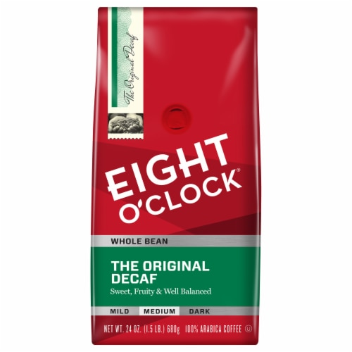 Eight O'Clock Original Decaf Whole Bean Coffee Value Size Perspective: front