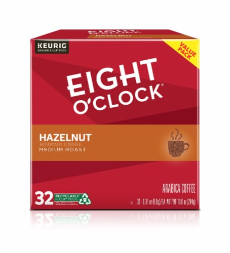 Eight O'Clock Hazelnut Medium Roast Coffee KCups 32 Count Perspective: front