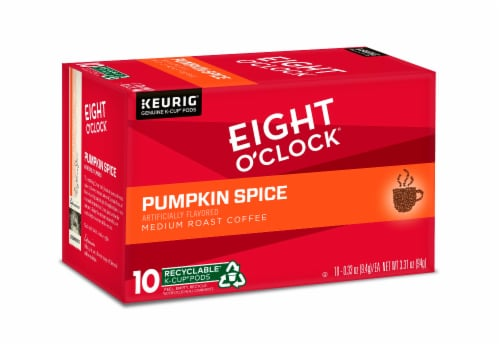 Eight O'Clock Pumpkin Spice Medium Roast Coffee K-Cup Pods Perspective: front