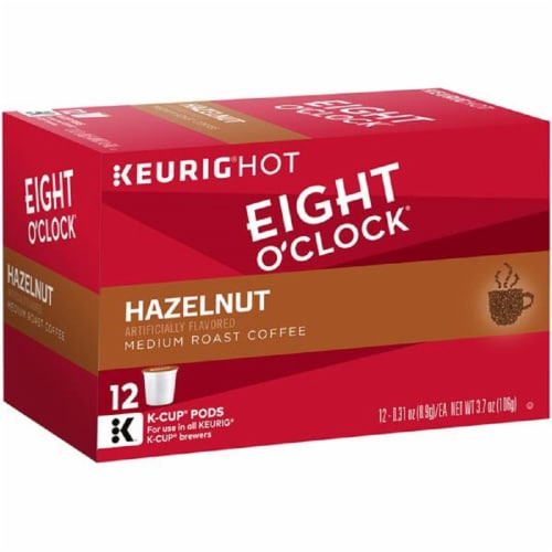 Eight O'Clock Hazelnut Medium Roast Coffee K-Cup Pods Perspective: front