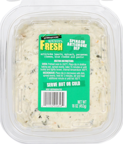 Food 4 Less Roundy S Spinach Artichoke Dip 16 Oz
