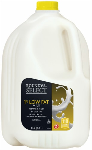Roundy's Select 1% Low Fat Milk Perspective: front