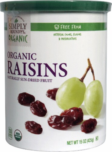 Simply Roundy's Organic Raisins Perspective: front