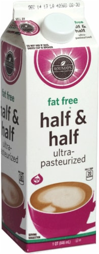 Roundy's Fat Free Half & Half Perspective: front