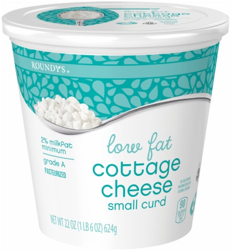 Roundy's Low Fat Small Curd Cottage Cheese Perspective: front