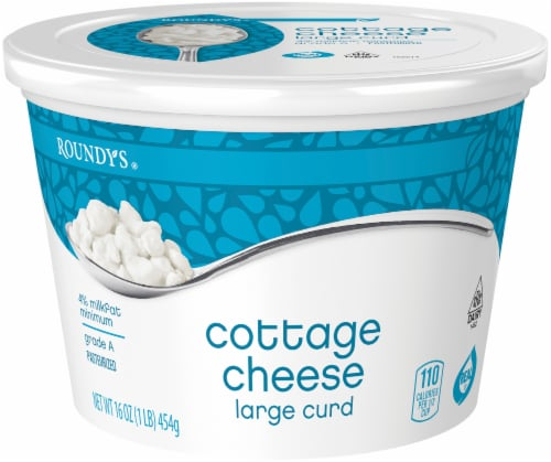 Roundy's Large Curd Cottage Cheese Perspective: front