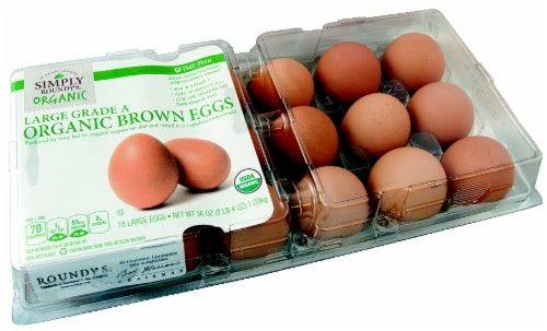Simply Roundy's Organic Large Grade A Brown Eggs Perspective: front
