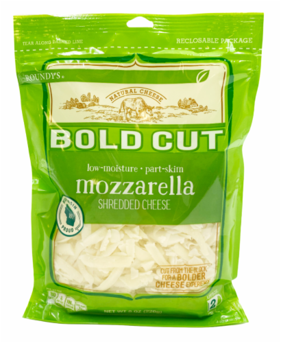 Roundy's® Bold Cut Mozzarella Shredded Cheese Perspective: front