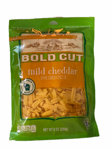 Roundy's® Bold Cut Mild Cheddar Shredded Cheese Perspective: front