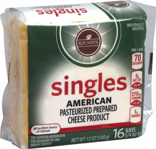 Roundy's American Cheese Singles Perspective: front