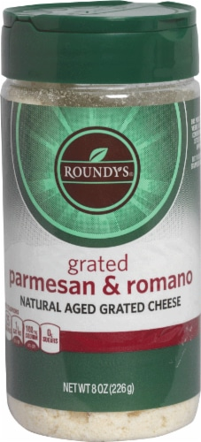 Roundy's Grated Parmesan & Romano Cheese Perspective: front