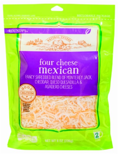 Roundy's Four Cheese Mexican Blend Perspective: front