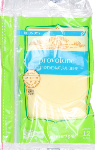 Roundy's Natural Sliced Provolone Cheese Perspective: front