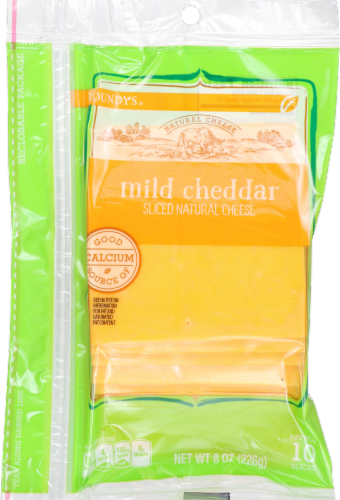 Roundy's Mild Cheddar Sliced Cheese Perspective: front