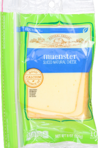 Roundy's Natural Sliced Muenster Cheese Perspective: front