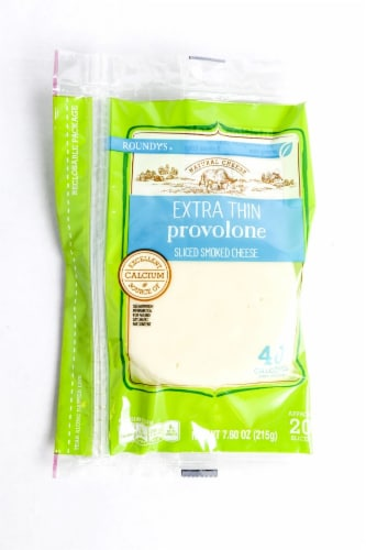 Roundy's Extra Thin Provolone Cheese Slices Perspective: front