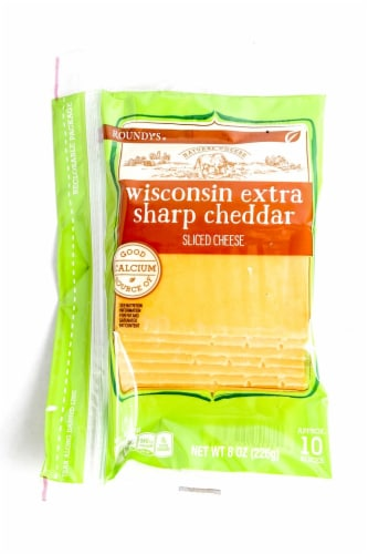 Roundy's Wisconsin Extra Sharp Cheddar Sliced Cheese Perspective: front