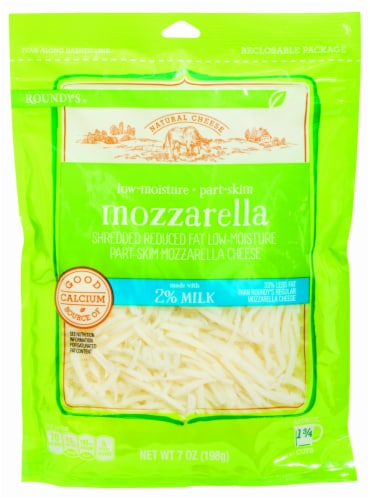 Roundy's 2% Shredded Mozzarella Cheese Perspective: front