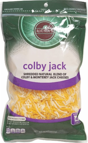 Roundy's Shredded Colby Jack Cheese Perspective: front