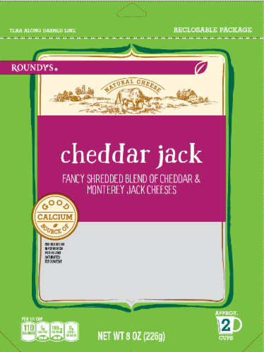 Roundy's Cheddar Jack Shredded Cheese Blend Perspective: front