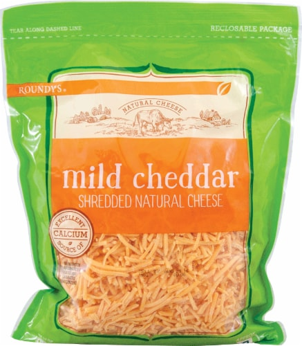Roundy's Shredded Cheddar Cheese Family Pack Perspective: front