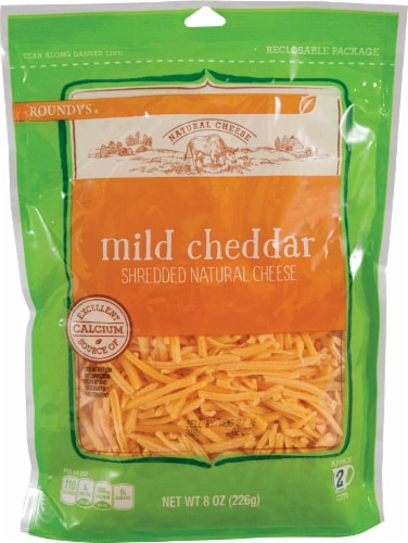 Roundy's Shredded Cheddar Cheese Perspective: front