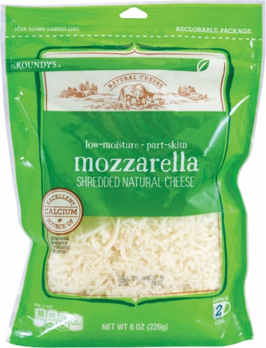 Roundy's Shredded Mozzarella Cheese Perspective: front