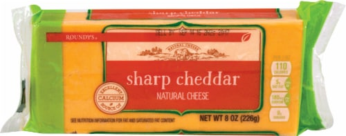 Roundy's Chunk Sharp Cheddar Cheese Perspective: front