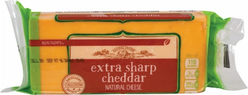 Roundy's Chunk Extra Sharp Cheddar Cheese Perspective: front