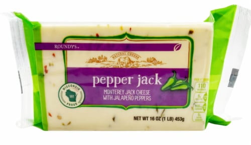 Roundy's® Pepper Jack Block Cheese Perspective: front