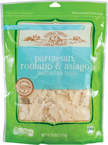 Roundy's Shaved Parmesan Romano & Asiago Perspective: front