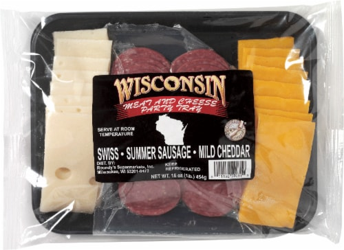 Roundy's® Wisconsin Cheese & Summer Sausage Party Tray Perspective: front