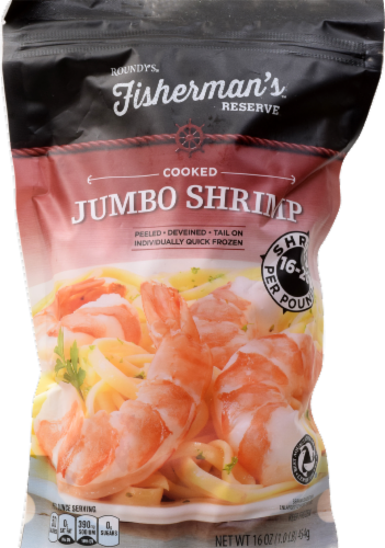 Roundy's Fisherman's Reserve Cooked Shrimp 16/20 per Pound Perspective: front
