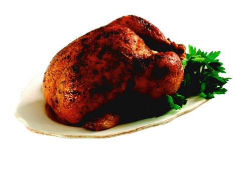 Rotisserie Chicken (NOT AVAILABLE FOR ORDERS BEFORE 11:00 am DAILY) Perspective: front