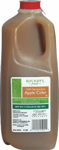 Roundy's Fresh Apple Cider Perspective: front