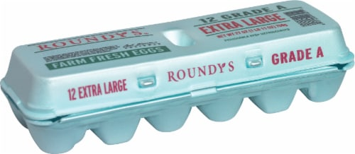 Roundy's Extra Large Grade A Eggs Perspective: front