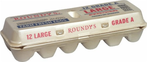 Roundy's Grade A Large Eggs Perspective: front