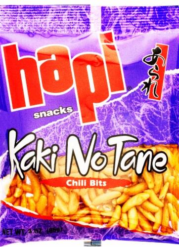 Hapi Chili Bits Kaki No Tane Snacks Perspective: front