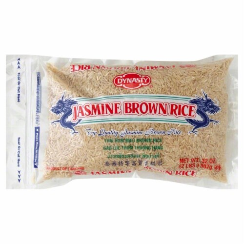 Dynasty Jasmine Brown Rice Perspective: front