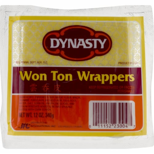 Dynasty Won Ton Wrappers Perspective: front