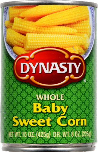 Dynasty Whole Baby Sweet Corn Perspective: front