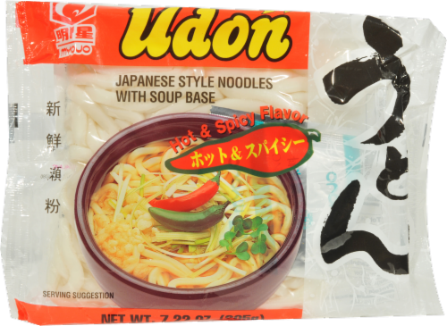 Myojo Udon Hot and Spicy Soup Perspective: front
