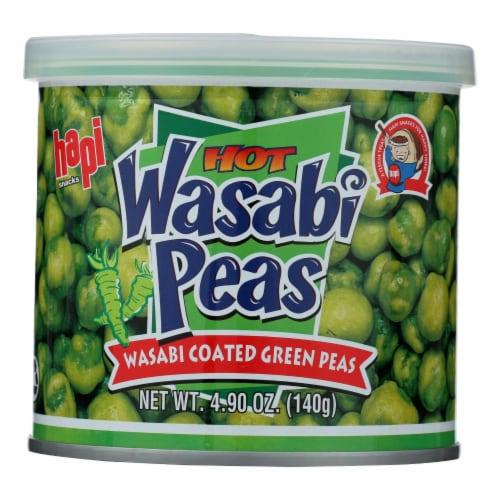 Hapi Snacks Hot Wasabi Peas Perspective: front